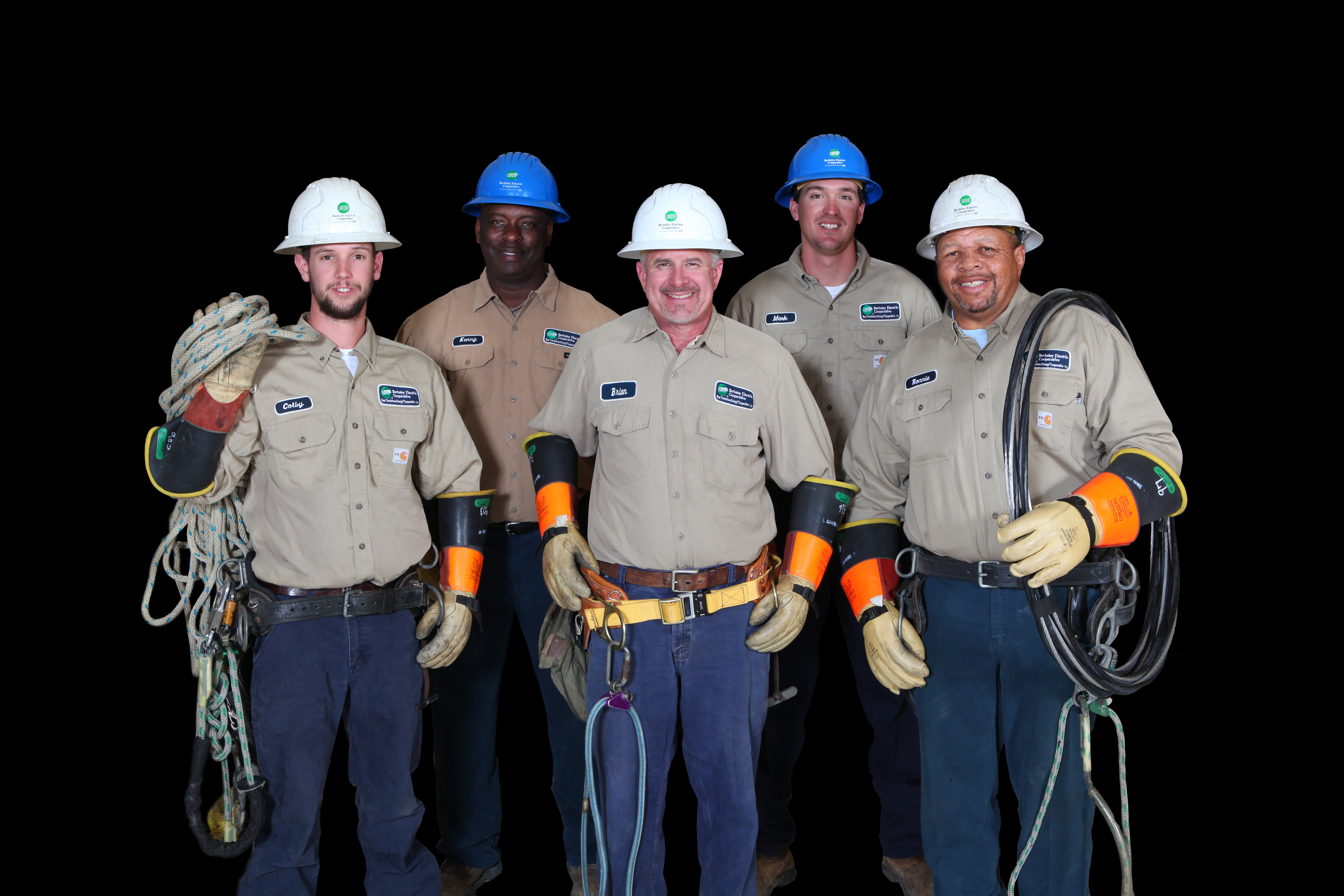 group of linemen